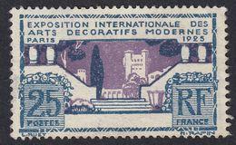 FRANCE Francia Frankreich  - 1925 - Yvert 213 Nuovo Senza Gomma; 25 Cent., Grigio/blu E Violetto. - France
