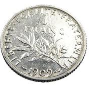 1 Franc  - Semeuse  - France - 1909 - Argent  - TB+ - - H. 1 Franc
