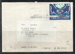 FRANCE FRANCIA 1994 TUNNEL Sous La Manche CHANNEL TUNNEL MANICA LETTER COVER LETTERA - France