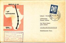 Germany First Lufthansa Flight Frankfurt - Athen - Khartoum - Nairobi - Johannesburg 14-5-1962 - [7] République Fédérale