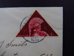 Cover Netherlands Holland Academia Traiectina NVPH 287 Wassenaar 1936 - Timbres