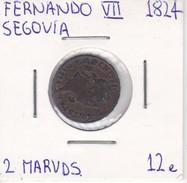 MONEDA DE ESPAÑA DE FERNANDO VII DEL AÑO 1824 DE 2 MARAVEDIS (COIN) SEGOVIA - [ 1] …-1931 : Reino