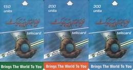 SUDAN - Calendar 2002, Set Of 3 Sudatel Phonecard 150-200-300 Units, Chip Siemens 35,Sample No Chip And No CN - Sudan