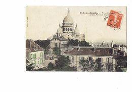 Cpa - 75 - PARIS - Perspective Basilique Saint-Pierre De MONTMARTRE - Hôtel Du Tertre - TRAVAUX échafaudage - Sacré Coeur