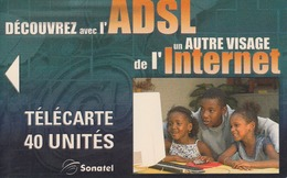SENEGAL - ADSL/Internet, Sonatel Telecard 40 Units, Tirage 10000,Sample No Chip And No CN - Senegal