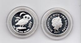 9119 Niue, Australien, 1 Unze Silber, Silver, Eule, Owl 2017 - Niue