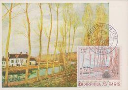 FDC - 1974 - SISLEY - Canal Du Loing - ARPHILA 75 - FDC