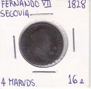 MONEDA DE ESPAÑA DE FERNANDO VII DEL AÑO 1828 DE 4 MARAVEDIS (COIN) SEGOVIA - Sin Clasificación