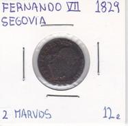 MONEDA DE ESPAÑA DE FERNANDO VII DEL AÑO 1829 DE 2 MARAVEDIS (COIN) SEGOVIA - [ 1] …-1931 : Reino