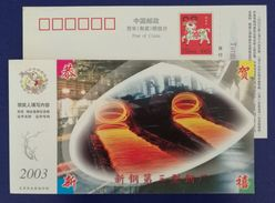 Steel Wire Rod Production Line,metallurgy,CN 03 Xinyu Iron And Steel Group Advert Pre-stamped Card - Factories & Industries