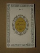 TB Calendrier Parfumé Petit Format 1967 CHERAMY Parfum Espace - Parfumerie François à Casablanca (Maroc) Carte Parfumée - Calendriers