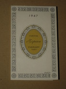TB Calendrier Parfumé Petit Format 1967 CHERAMY Parfum Espace - Parfumerie François à Casablanca (Maroc) Carte Parfumée - Tamaño Pequeño : 1961-70