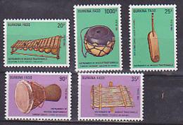 Butkina Faso  757 761 Instruments De Musique 759 Dentelure Irreg  Neuf ** TB MNH Sin Charnela Cote  13 - Burkina Faso (1984-...)