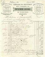 Facture  -   Fabrique De  Registres Wiener Jeune   Nancy    ,timbres (71) - France