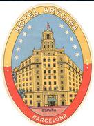 ETIQUETA DE HOTEL  - HOTEL ARYCASA  -BARCELONA - Hotel Labels