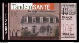Billet Publicitaire 10 € TANDEM SANTE (art. N° 593) - Sonstige
