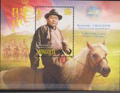 E) 2010 MONGOLIA, ELBEGDORJ TSAKHIA, PRESIDENT OF MONGOLIA, HORSE, PERSONAGE, S/S, MNH - Mongolia