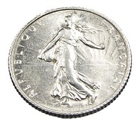 1 Franc  - Semeuse  - France - 1915 - Argent  - TTB+ - - Francia
