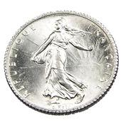 1 Franc  - Semeuse  - France - 1917 - Argent  - Sup - - H. 1 Franc