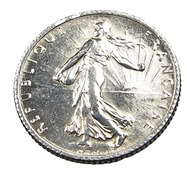 1 Franc  - Semeuse  - France - 1920 - Argent  - TTB+ - - Francia