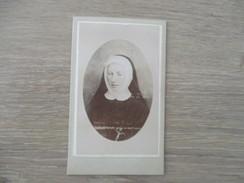 CDV BONNE SOEUR   PHOTOGRAPHE BILLORD  ANGOULEME - Cartes De Visite