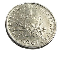 1 Franc  - Semeuse  - France - 1967 -  Nickel  - TTB - - France