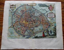 Lier - Lierre - Lira - Stadsplan - Carte De Ville -  Antique City Map - Giucciardini 1588 - Cartes