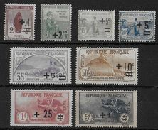 ORPHELINS - YVERT N° 162/169 * MH - COTE = 255 EUR. - France