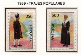 FEROE 1989 - TRAJES POPULARES - COSTUMES - YVERT Nº 178-179** - Textiles