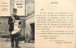 -themes Div- Ref R865- Metiers - Metier -le Garde Champetre - Avis -  -carte Bon Etat  - - Police - Gendarmerie