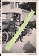 1939 1940 Gendarmerie Française Devant Leurs Camions Berlietveste Cuir Tankiste Modd 18   1939-1940 39/45 Ww2 2wk - Guerra, Militari