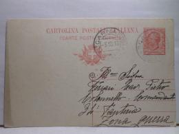 FBT,COLL.CARTOLINA POSTALE,ST.POSTALE,EUR.ITALIA,REGNO,INTERI POSTALI,VIAGGIATA - 1900-44 Vittorio Emanuele III