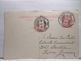 FBT,COLL.CARTOLINA POSTALE,ST.POSTALE,EUR.ITALIA,REGNO,INTERI POSTALI,VIAGGIATA - Stamped Stationery