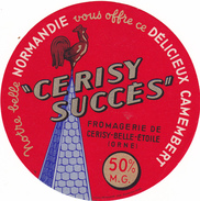 ETIQUETTE  DE CAMEMBERT CERISY BELLE ETOILE - Fromage