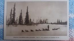 CPA MISSIONS D EXTREME NORD CANADIEN SERIE V A LA RECHERCHE D UN CAMPEMENT DE NUIT ATTELAGE CHIENS DE TRAINEAU - Kanada
