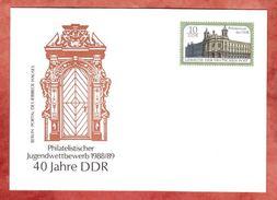 PP, Postmuseum Der DDR, Portal Des Ribbeck-Hauses, Jugendwettbewerb, Ungebraucht, 1988 (38946) - Private Postcards - Mint