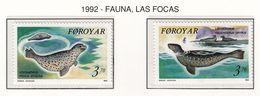 FEROE 1992 - FAUNA MARINA - FOCAS - YVERT Nº 231-232** - Sonstige