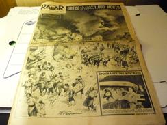 Radar Hebdomadaire N°237 23 Aout 1953 Grèce La Terre Explose Et S'ouvre 1000 Morts - People