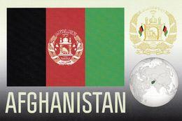 1 AK Afghanistan * Die Karte Zeigt Die Flagge, Das Wappen Und Die Position Von Afghanistan Auf Der Weltkarte * - Afghanistan