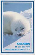 Télécarte Japon / 110-011 - ANIMAL - BEBE PHOQUE BLANCHON -  YOUNG FUR SEAL Japan Phonecard - HEULER - 266 - Japan