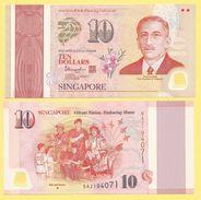 Singapore 10 Dollars P-new 2015 Commemorative UNC - Singapore
