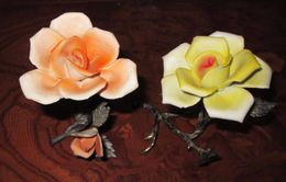 COPPIA DI ROSE SILVER - Ceramica & Terraglie