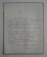 FAIRE-PART DECES 1857 De LINAGE De MOLINES Château De La Tivolière St-Marcellin Voreppe Isère Généalogie - Décès
