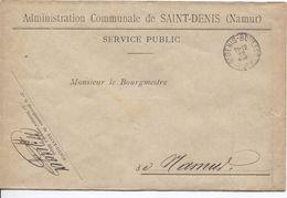Lettre En Franchise De L'Administration Communale De Saint-Denis(Namur) C.St.Denis-Bovesse 22/5/1911 V.Namur JS17 - Franchise