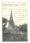 """CPA 1916 """"la Grande Guerre 1914-15"""" L'église De Canny Sur Matz Détruite Par Les Obus, Courrier D'un Soldat, N°722 - France"""