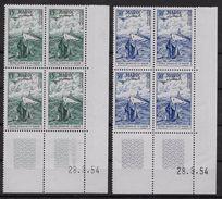 1954   Maroc N°   PA 98 Et 99   Nf**.MNH . (coin Daté  28 . 9 .54 )  Emis Au Profit Des œuvres Sociales De La Mari - Marruecos (1891-1956)