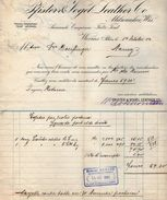 VP10.309 - Facture -  PFISTER & VOGEL LEATHER Co ....à WORMS SUR RHIN - 1900 – 1949