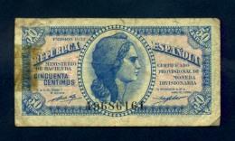 Banconota Spagna 50  Centimos 1937 - [ 3] 1936-1975 : Régence De Franco