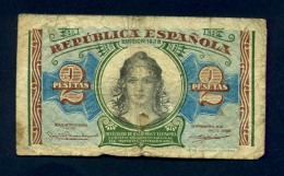 Banconota Spagna 2 Pesetas 1938 - [ 3] 1936-1975 : Régence De Franco