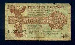 Banconota Spagna 1 Pesetas 1937 - [ 3] 1936-1975 : Regime Di Franco